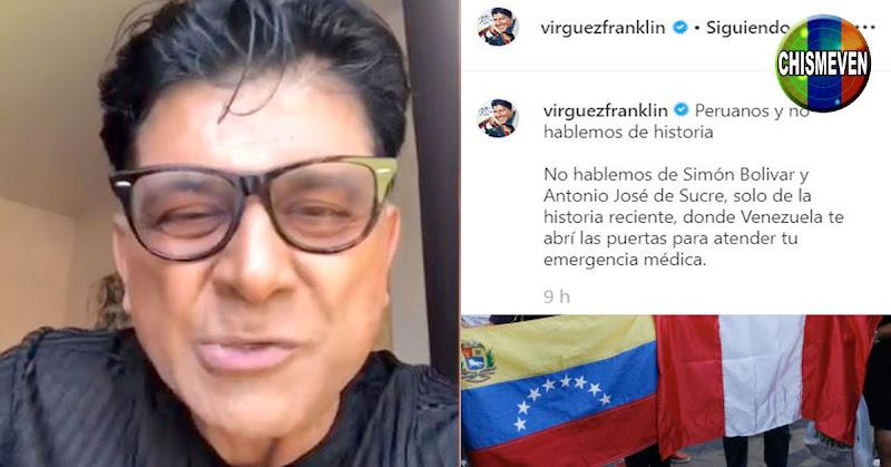 Franklin Virgüez comenta lo que ocurría con los Peruanos cuando entraban antes a Venezuela