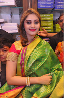 Surabhi looks stunning in Saree at Nakshatra Fashion Store Launch at Suchitra X Road 16.JPG