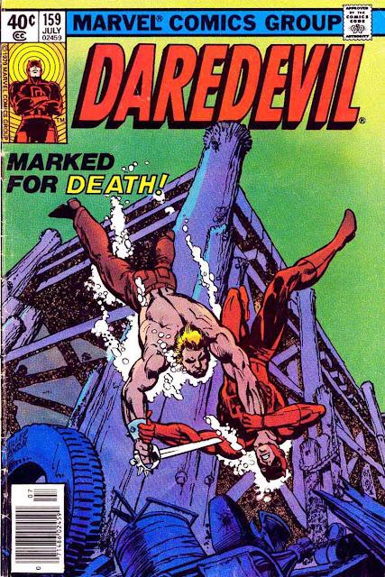 Daredevil v1 #159 marvel comic book cover art by Frank Miller