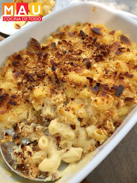 mac and cheese receta macarron con queso mau cocina de todo cheddar