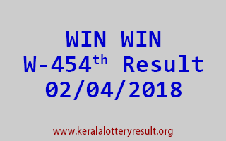 WIN WIN Lottery W 454 Results 02-04-2018