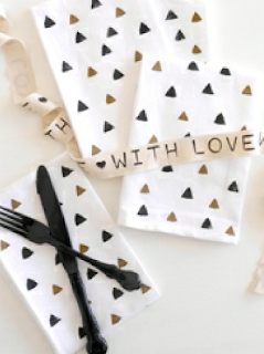DIY Serviettes de Table Estampillés