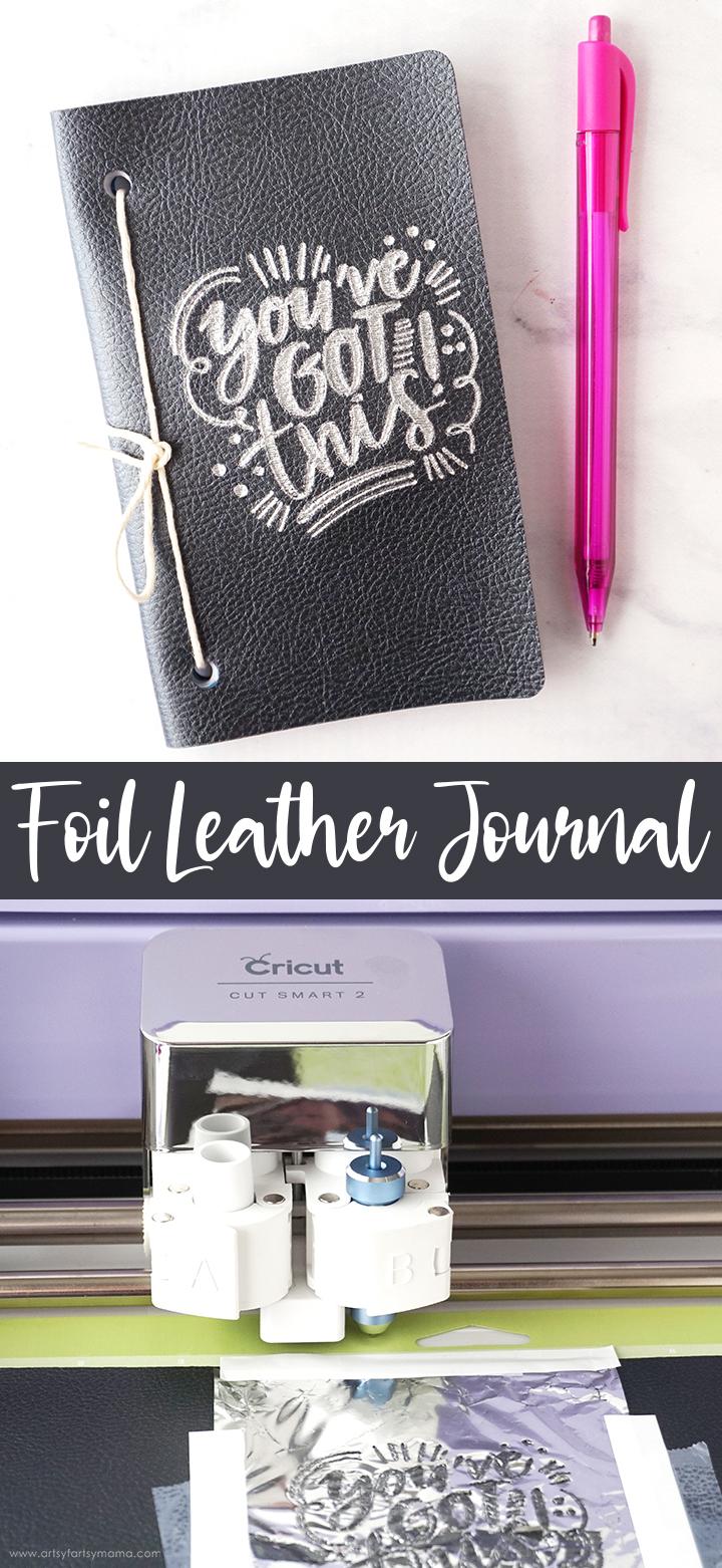 DIY Foil Leather Journal