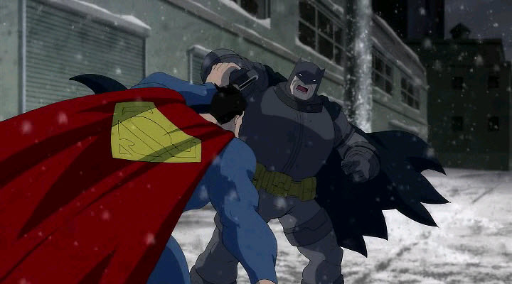 Superman vs Batman en El regreso del caballero Oscuro