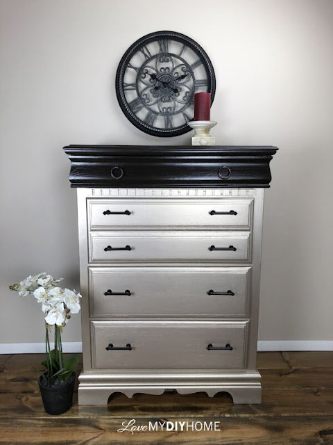 dresser with bronze hardware