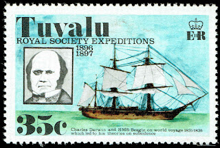 Tuvalu Charles Darwin and H.M.S. Beagle
