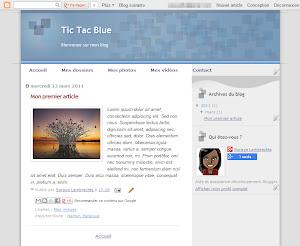 Tic Tac Blue Theme