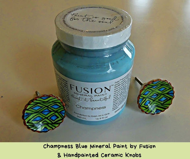 Fusion Mineral Paint and Ceramic Knobs