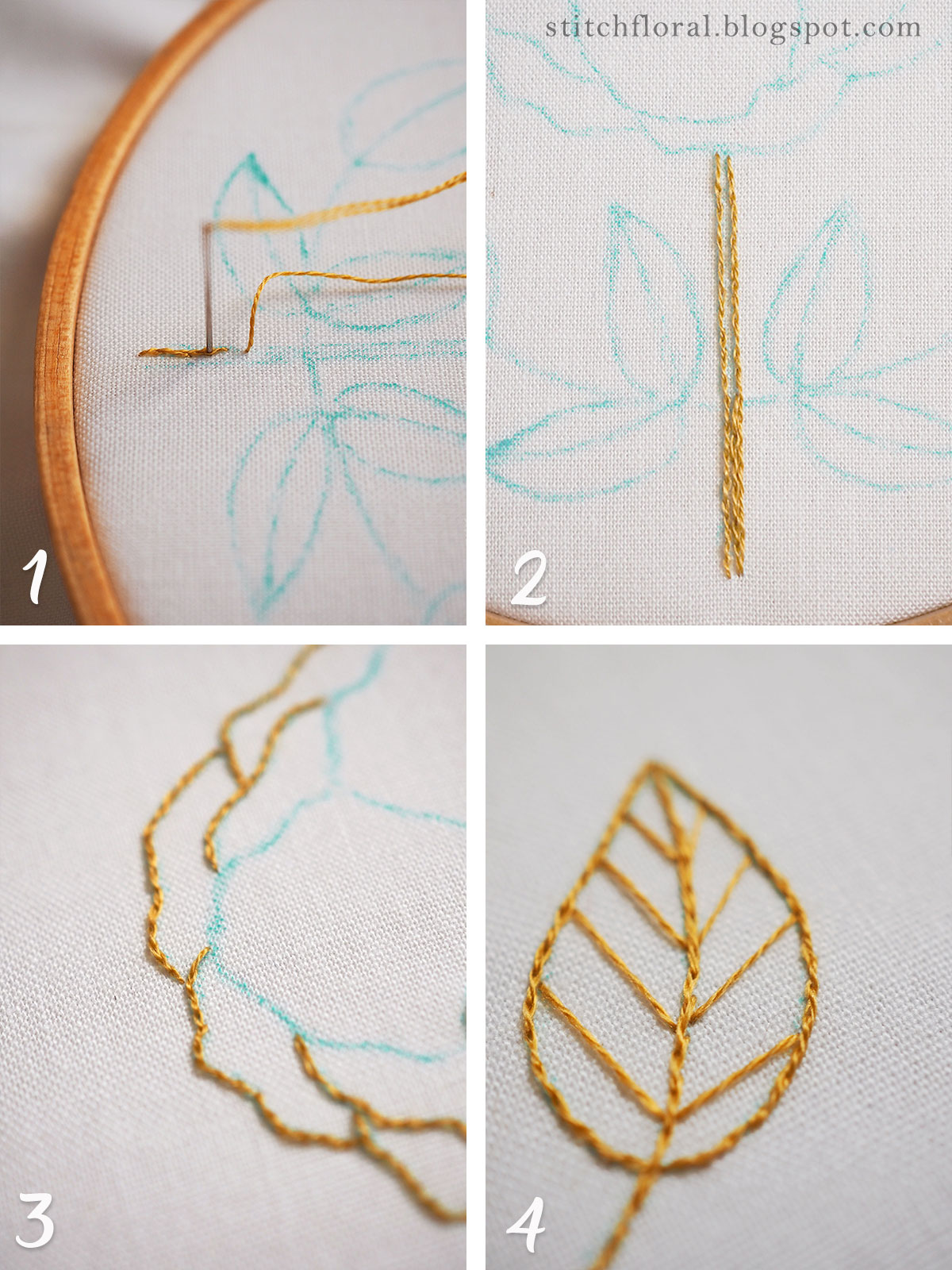 free embroidery pattern and tutorial