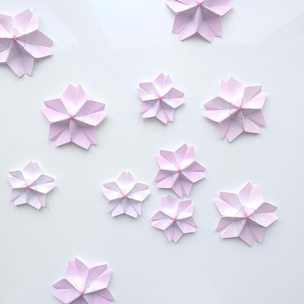 it's a heart heart season: Origami Cherry Blossoms - photo#12