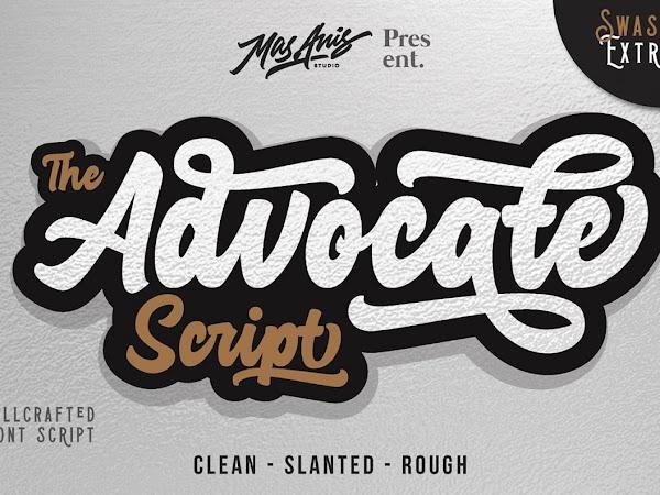 Advocate Script Font Free Download