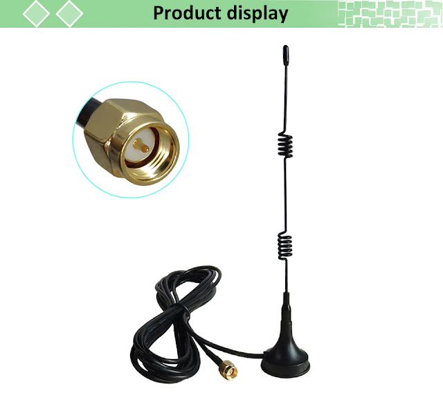2.4Ghz Wifi Antenna SMA Male Connector 5dbi 2.4G IOT antena magnetic base Sucker antenne 3 meters extension cable wi-fi router