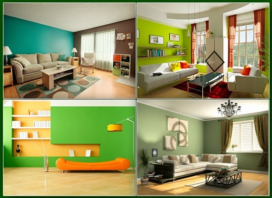 Green colored interiors