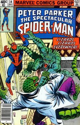 Spectacular Spider-Man #34, Lizards