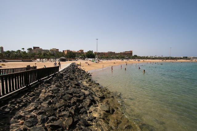 Spiaggia a Caleta de Fuste-Fuerteventura