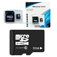 Logo Amazon: Scheda memoria Micro SD 32 GB  adattatore per telefoni, Tablet e PC