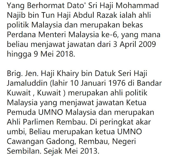 Khairy Jamaluddin Kata Najib Kena Jawab Rampasan Rm1 Bilion