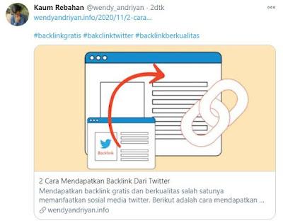 Mendapatkan Backlink Dari Twitter Dengan Tweet