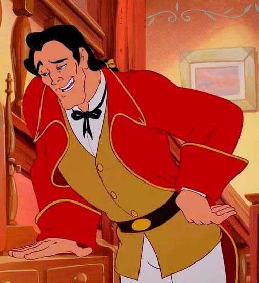 Figurino Gaston  A bela e a fera anos 90