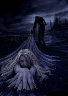 parka, muerte, gótico, oscuridad, adiós, cielo, infierno