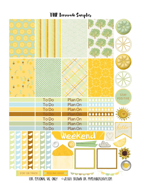 Lemonade Sampler Page 1 for the Happy Planner on myplannerenvy.com