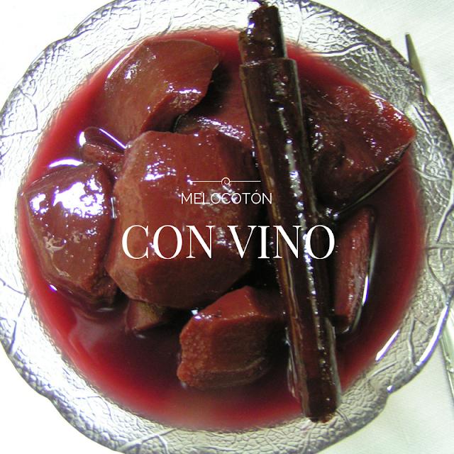 Melocotón con vino - Morrico Fino