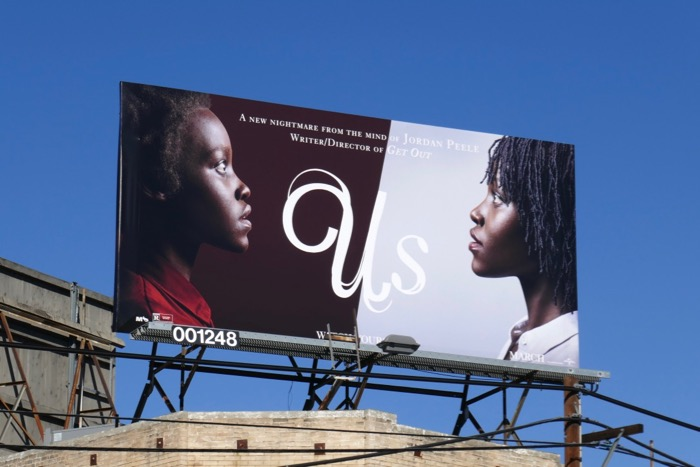 Us movie billboard
