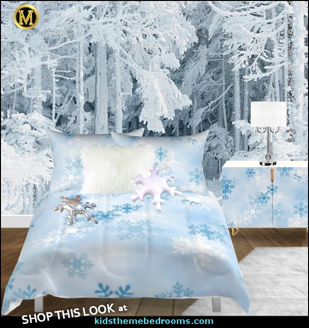 winter wonderland bedroom  penguin bedrooms - polar bear bedrooms - arctic theme bedrooms - winter wonderland theme bedrooms - snow theme decorating ideas - penguin duvet covers - penguin bedding - Snow queen - winter wonderland party ideas - Alaska - White Christmas