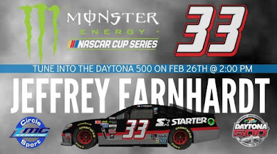 Jeffrey Earnhardt's 2017 #NASCAR Monster Energy Cup Series Debut