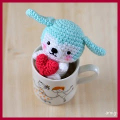 Mini mascota amigurumi
