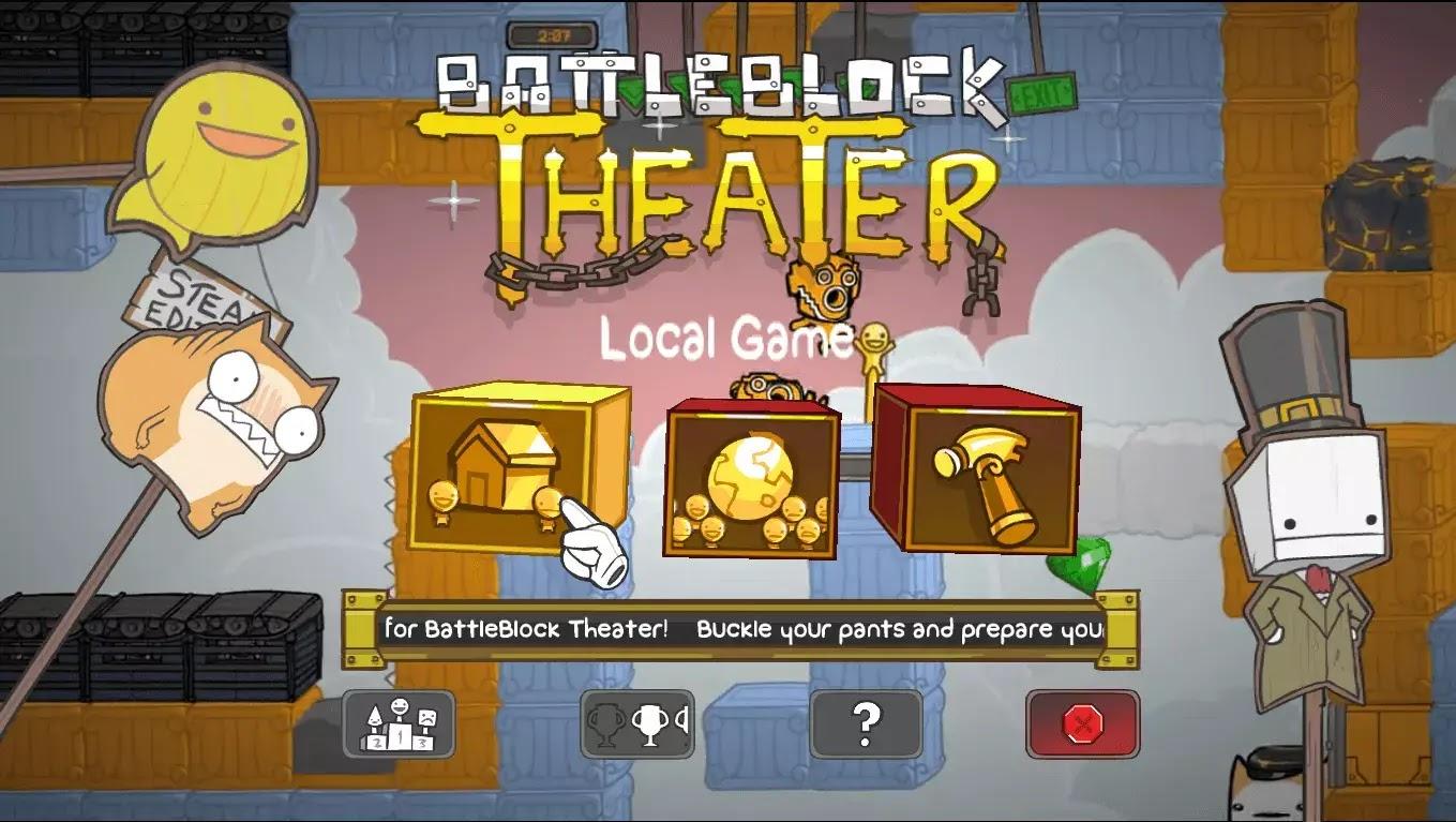 Main Menu BattleBlock Theater