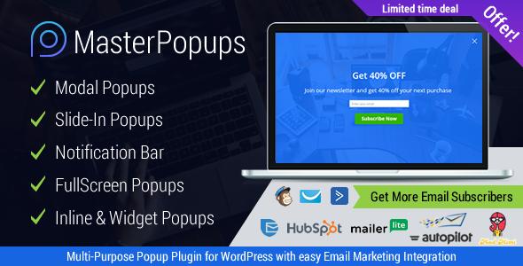 Download Master Popups v3.1.6 - Popup Plugin for Lead Generation