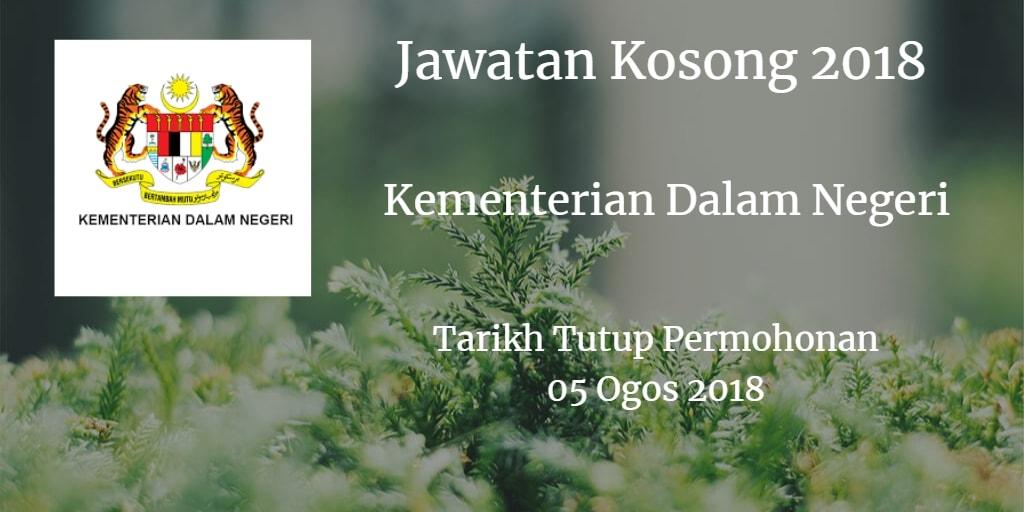 Jawatan Kosong MOHA 05 Ogos 2018