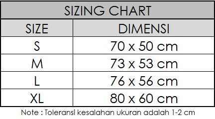 Toko Kaos Jersey Terkemuka Di Indonesia Size Chart