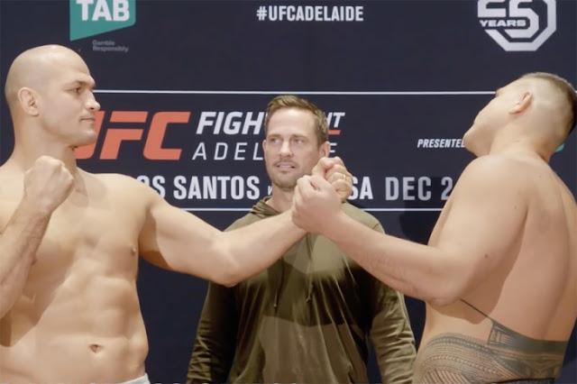 UFC Adelaide Results : Junior dos Santos Vs Tai Tuivasa