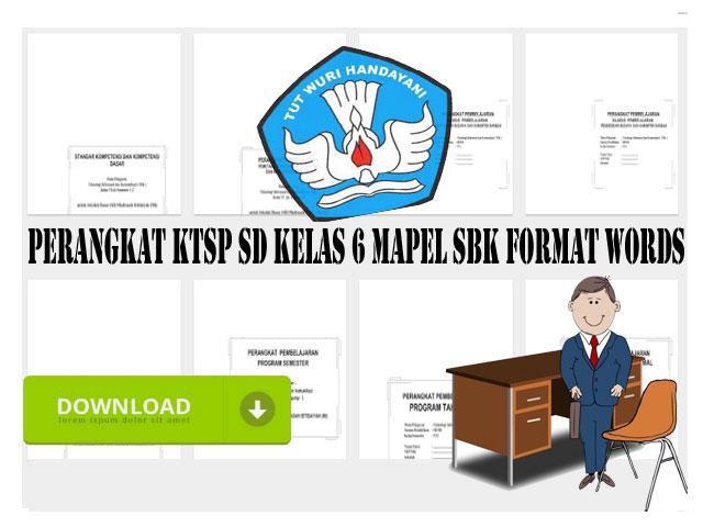 Perangkat KTSP SD Kelas 6 Mapel SBK Format Words