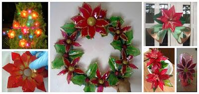 flores-navideñas-reciclaje-botellas