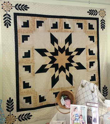 Ebony and Ivory Quilt designed by Christine Stainbrook of Connecting Threads