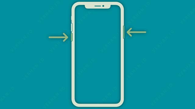 restart iphone lewat tombol power dan volume