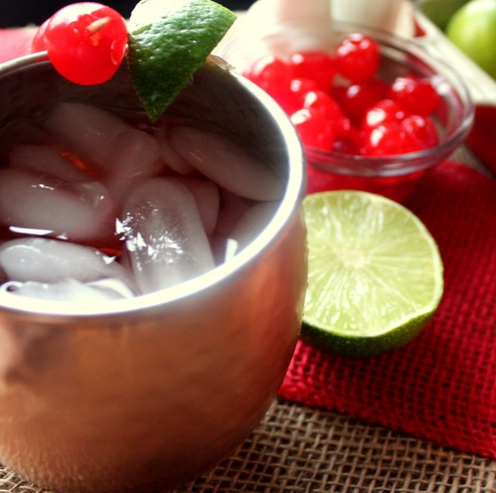 CHERRY LIMEADE MOSCOW MULES #drink #cocktail
