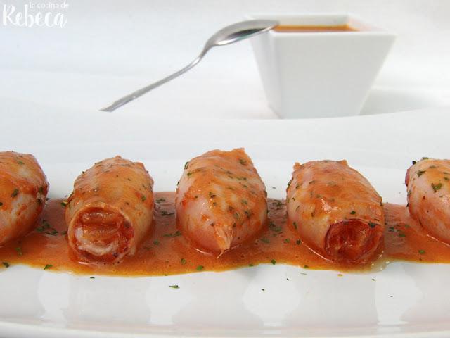 Calamares rellenos de verduras