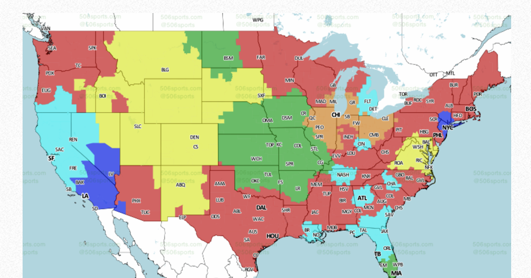 packerville  u s a   week 16 nfl tv maps