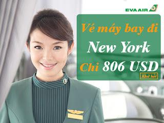 Vé máy bay đi New York hãng EVA Air