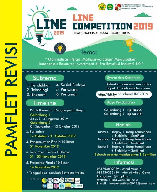 Lomba Essay Nasional Universitas Jember  Deadline 13 Oktober