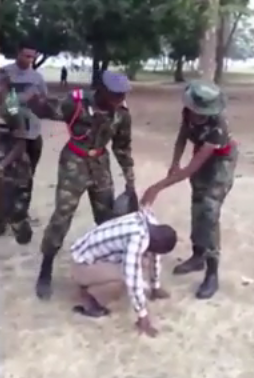 Nigerian cadets beat up man who complimented lady