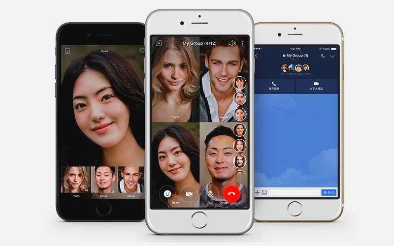 Video Call di Line bisa 200 Orang (line.me)