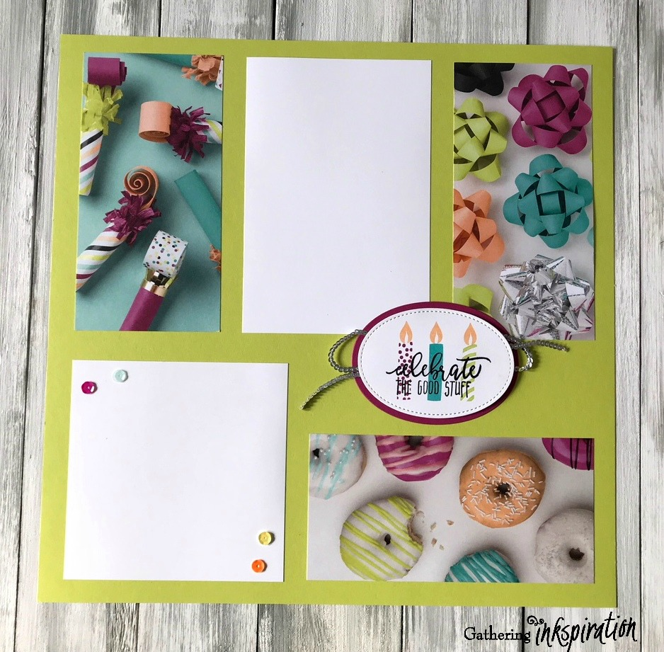 Gathering Inkspiration Picture Perfect Birthday Scrapbook Pages
