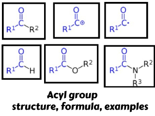 Acyl group – structure, formula, examples