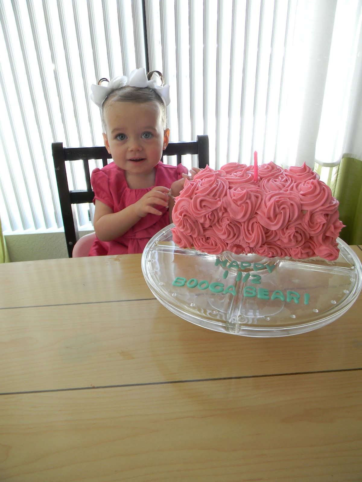 Ideas Rosette Half Birthday Cake