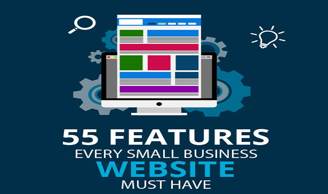 55 Features Every Small Business Websites Must have #infographic